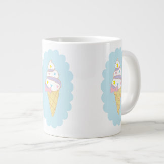 Cute Swirl Ice Cream Cone Extra Large Mug
