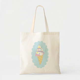 Cute Swirl Ice Cream Cone Tote Bag