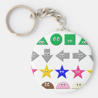 Cute Symbol Basic Round Button Key Ring
