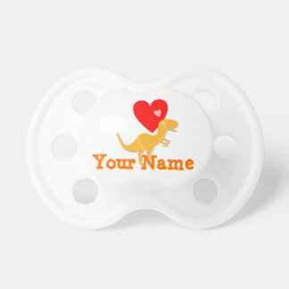 Cute T-Rex Dinosaur Hearts customizable name Dummy