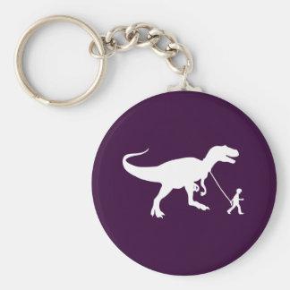Cute T-rex Pet Basic Round Button Key Ring
