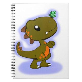 Cute T-Rex Spiral Notebook