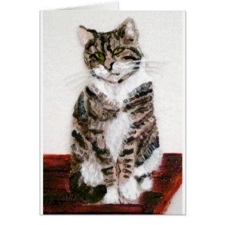 Cute Tabby Cat Art Card