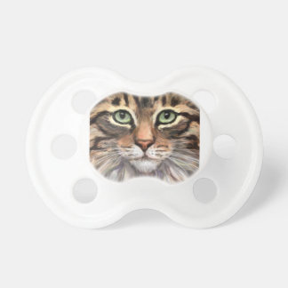 Cute Tabby Cat Baby Pacifier for 0-6 months
