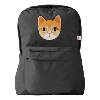 Cute Tabby Cat Illustration Backpack
