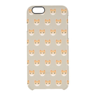 Cute Tabby Cat Illustration Clear iPhone 6/6S Case