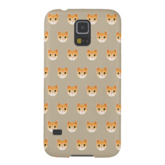 Cute Tabby Cat Illustration Galaxy S5 Cover