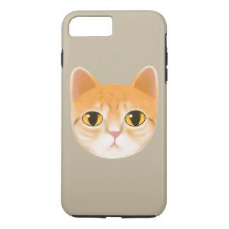 Cute Tabby Cat Illustration iPhone 7 Plus Case