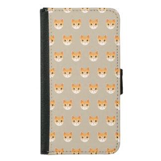 Cute Tabby Cat Illustration Samsung Galaxy S5 Wallet Case