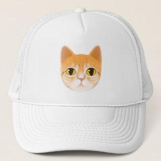 Cute Tabby Cat Illustration Trucker Hat