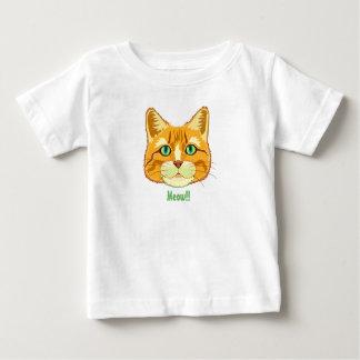 Cute Tabby Cat Meow Baby T-Shirt