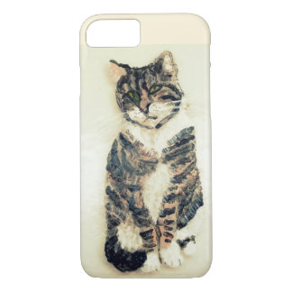 Cute Tabby Cat Painting iPhone 7 Case