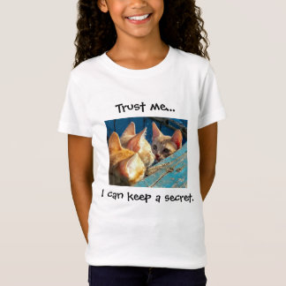 "Cute Tabby Kittens ""Trust Me"" T-Shirt"