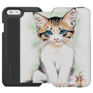 Cute Tabby Watercolor Art Incipio Watson™ iPhone 6 Wallet Case