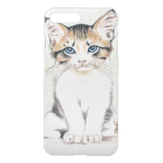 Cute Tabby Watercolor Art iPhone 8 Plus/7 Plus Case