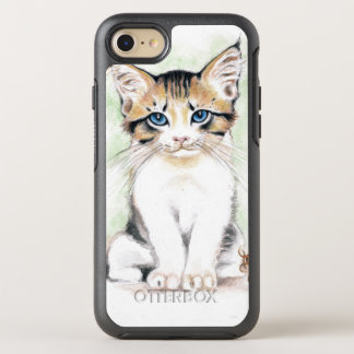 Cute Tabby Watercolor Art OtterBox Symmetry iPhone 8/7 Case