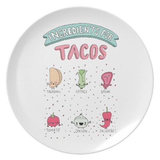 Cute Taco Plate