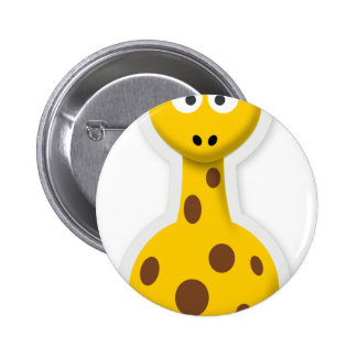 Cute tall giraffe zoo animals 6 cm round badge