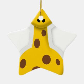 Cute tall giraffe zoo animals ceramic star decoration