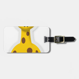 Cute tall giraffe zoo animals luggage tag