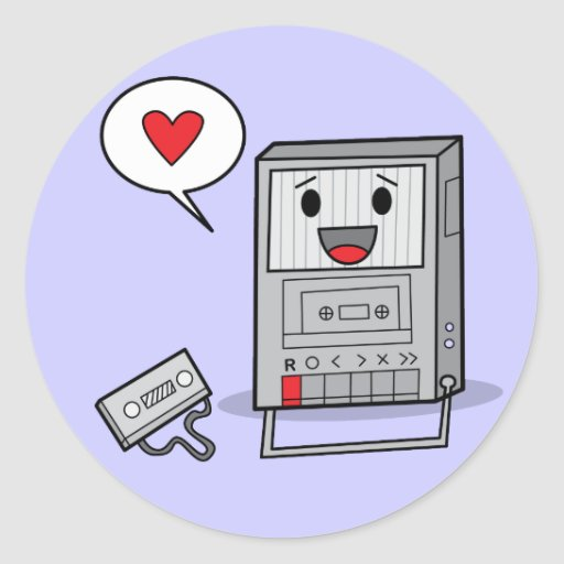 Cute Tape Player - Stickers