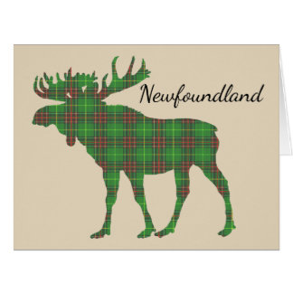 Cute Tartan moose Newfoundland card