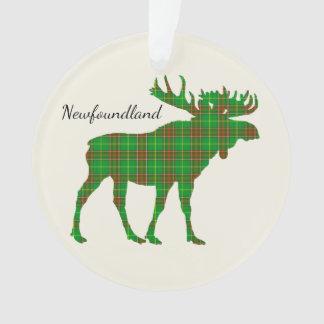 Cute Tartan moose Newfoundland Christmas ornament