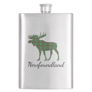 Cute Tartan moose Newfoundland drink flask