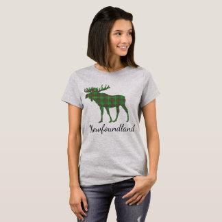 Cute Tartan moose Newfoundland  shirt