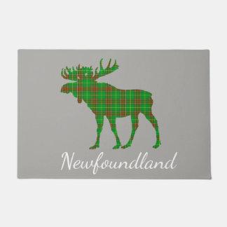 Cute Tartan moose Newfoundland   welcome mat