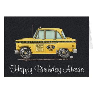 Cute Taxi Cab Greeting Card