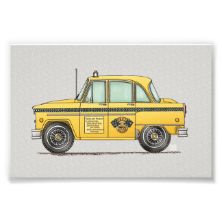 Cute Taxi Cab Photo Print