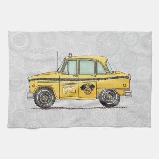 Cute Taxi Cab Kitchen Towel