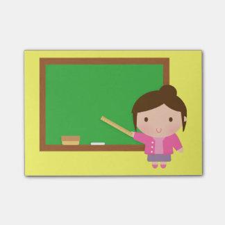 Cute Teacher Chalkboard Post-it Notes