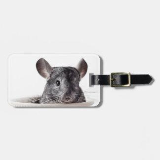 Cute Teacup Chinchilla Grey Luggage Tag