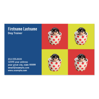 Cute Teacup Puppy Pack Of Standard Business Cards