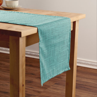 Cute Teal Turquoise Green Faux Jute Fabric Pattern
