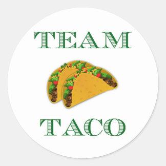 """Cute """"Team Taco"""" Classic Round Sticker"""