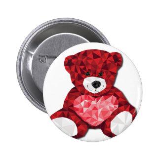 Cute teddy bear 6 cm round badge