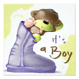 Cute Teddy Bear Baby Shower Invitation