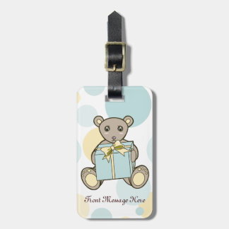Cute Teddy Bear Baby Shower or Kids Birthday Luggage Tag