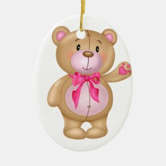 Cute Teddy Bear Ceramic Ornament