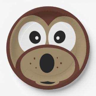 Cute Teddy Bear Face Paper Plates