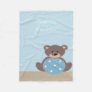 Cute Teddy Bear Fleece Blanket