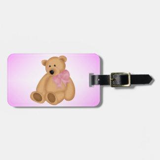 Cute Teddy Bear, For Baby Girl Luggage Tag
