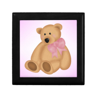 Cute Teddy Bear, For Baby Girl Small Square Gift Box