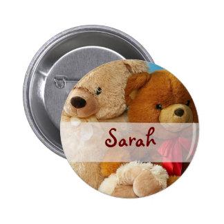 Cute Teddy Bear Friends Button