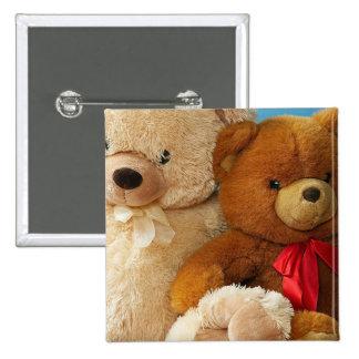 Cute Teddy Bear Friends Pinback Buttons