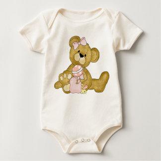 Cute Teddy Bear Girl Baby Bodysuit