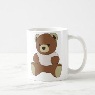 Cute Teddy Bear in Pink T-Shirt Coffee Mug